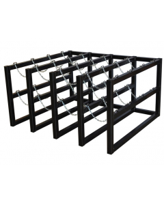 4W x 4D Gas Cylinder Storage Rack  | For 16 Cylinders - #35162