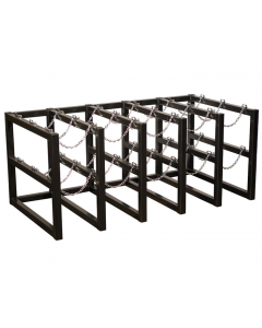 5W x 3D Gas Cylinder Storage Rack | For 15 Cylinders- #35178