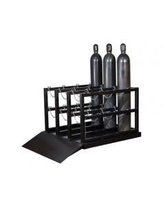 Baricade Gas Cylinder with Ramp for 12 Cylinders- #35226