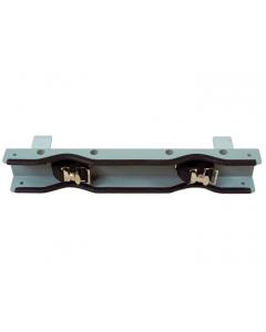 Gas Cylinder Support Bracket, 2 Cylinder Capacity, Bench Mount, Steel - #35270
