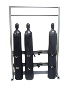 Gas Cylinder Process Stand, 4 Cylinder Capacity, In-Line, Steel - #35310