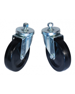 Swivel Caster Set for Gas Cylinder Hand Trucks, 5-Inch - #35390