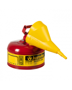 Type I Steel Safety Can for flammables, with Funnel 11202Y, 1 gallon, Red - #7110110