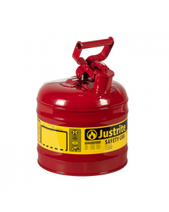 Type I Steel Safety Can for flammables, 2 gallon, Red - #7120100