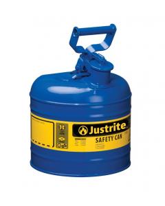 Type I Steel Safety Can for Kerosene, 2 gallon, Blue - #7120300