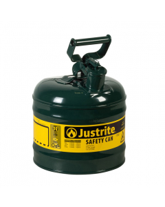 Type I Steel Safety Can for Oil, 2 gallon, Green - #7120400