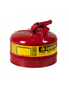 Type I Steel Safety Can for flammables, 2.5 gallon, Red - #7125100