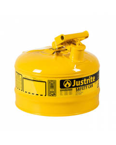 Type I Steel Safety Can for Diesel, 2.5 gallon, Yellow - #7125200
