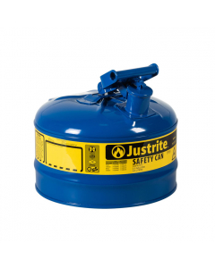 Type I Steel Safety Can for Oil, 2.5 gallon, Blue - #7125300