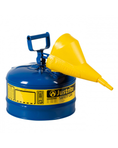 Type I Steel Safety Can for Kerosene, with Funnel, 2.5 gallon,  Blue - #7125310