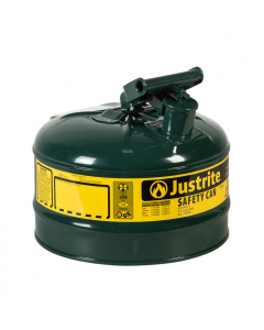 Type I Steel Safety Can for Oil, 2.5 gallon, Green - #7125400