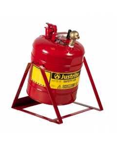 Type I Steel Tilt Safety Can with Stand, 5 gallon, top faucet, Red - #7150146