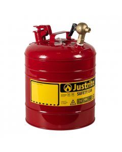 Type I Steel Dispensing Safety Can, 5 gallon, top brass faucet, Red - #7150147