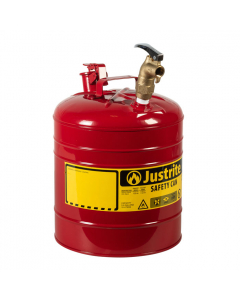 Type I Steel Dispensing Safety Can, 5 gallon, top brass faucet, Red - #7150157
