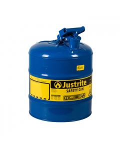 Type I Steel Safety Can for Kerosene, 5 gallon, Blue - #7150300