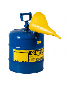Type I Steel Safety Can for Kerosene, with Funnel, 5 gallon, Blue - #7150310