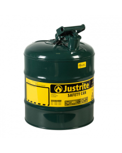 Type I Steel Safety Can for Oil, 5 gallon, Green - #7150400