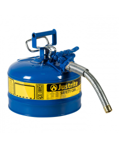 Type II AccuFlowSteel Safety Can for Kerosene, 2.5 gallon, 1-inch metal hose, Blue - #7225330