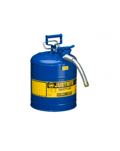 "5 Gallon Blue Kerosene Type II Safety Can, Steel, 1"" Metal Hose - AccuFlow™- #7250330"