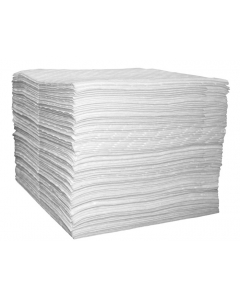 Single Laminate Oil Only pads, Light Weight, 15-in x 18-in, bagged, 200 ct - #83491