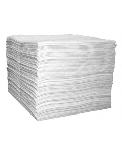 Single Laminate Oil Only pads, Light Weight,15-in x 18-in, Bagged, 100 ct - #83492