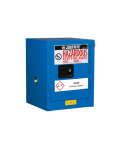 ChemCor® Countertop Hazardous Material Safety Cabinet, 4 gallon, 1 Self-Close Door, Royal Blue - #8604282
