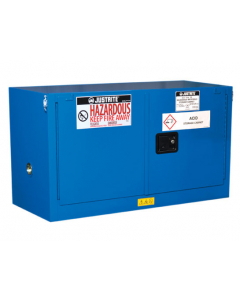 Sure-Grip® EX Piggyback Hazardous Material Safety Cabinet, 17 gallon, 2 self-close doors, Royal Blue - #861728