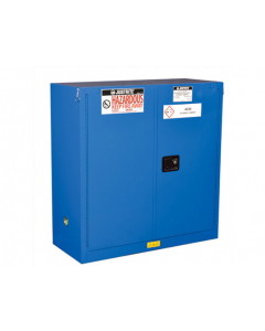 Sure-Grip® EX Hazardous Material Steel Safety Cabinet,  30 gallon,  2 self-close doors, Royal Blue - #863028