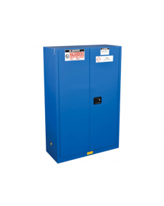 ChemCor® Hazardous Material Safety Cabinet, 45 gallon, 2 Self-Close Doors, Royal Blue - #8645282