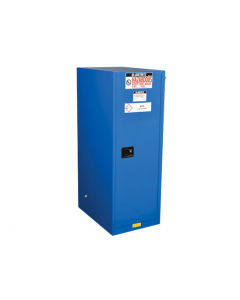 Sure-Grip® EX Deep Slimline Hazardous Material Safety Cabinet, 54 gallon 1 self-close door, Royal Blue - #865428