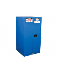ChemCor® Hazardous Material Safety Cabinet, 60 gallon, 2 Self-Close Doors, Royal Blue - #8660282