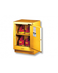 Sure-Grip® EX Under Fume Hood solvent/flammable liquid safety cabinet, 15 gallon,  1 manual close door, right hinge, Yellow - #882400