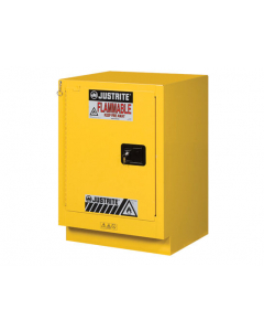 Sure-Grip® EX Under Fume Hood solvent/flammable liquid safety cabinet, 15 gallon,  1 self-close door, left hinge, Yellow - #882430