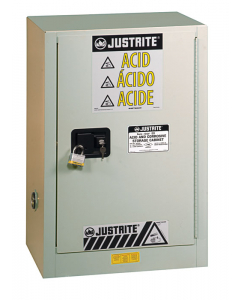 ChemCor® Under Fume Hood Corrosives/Acids Safety Cabinet, 15 gallon, 1 Manual-Close Right Door, Light Neutral - #8825072
