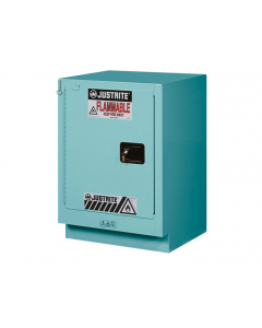 ChemCor® Under Fume Hood Corrosives/Acids Safety Cabinet, 15 gallon, 1 Manual-Close Left Door, Blue - #8825122