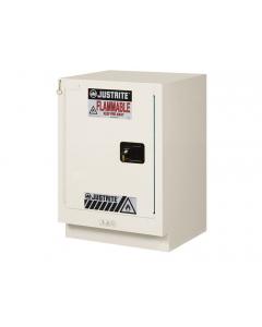 ChemCor® Under Fume Hood Corrosives/Acids Safety Cabinet, 15 gallon, 1 Manual-Close Left Door, Light Neutral - #8825172