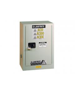 ChemCor® Under Fume Hood Corrosives/Acids Safety Cabinet, 15 gallon, 1 Self-Close Right Door, Light Neutral - #8825272
