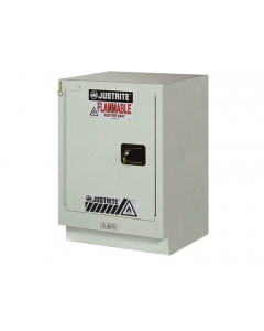ChemCor® Under Fume Hood Corrosives/Acids Safety Cabinet, 15 gallon, 1 Self-Close Left Door, Silver - #8825342