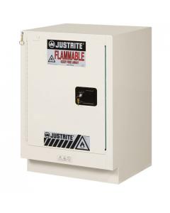 ChemCor® Under Fume Hood Corrosives/Acids Safety Cabinet, 15 gallon, 1 Self-Close Left Door, Light Neutral - #8825372