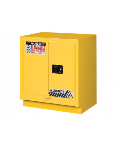 Sure-Grip® EX Under Fume Hood solvent/flammable liquid safety cabinet, 19 gallon,  2 manual close doors, Yellow - #883000