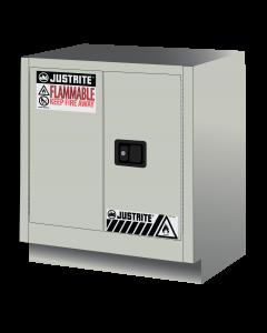 Sure-Grip® EX Under Fume Hood solvent/flammable liquid safety cabinet, 19 gallon,  2 manual close doors, Light Neutral - #883007