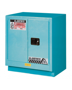 ChemCor® Under Fume Hood Corrosives/Acids Safety Cabinet, 19 gallon, 2 Manual-Close Doors, Blue - #8831022