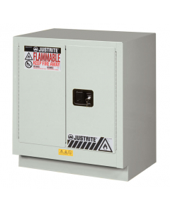 ChemCor® Under Fume Hood Corrosives/Acids Safety Cabinet, 19 gallon, 2 Manual-Close Doors, Light Neutral - #8831072