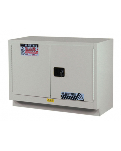 23 Gal Silver Under Fume Hood Solvent/Flammable Liquid Safety Cabinet, 2 Self-Close Doors - Sure-Grip® EX - #883624