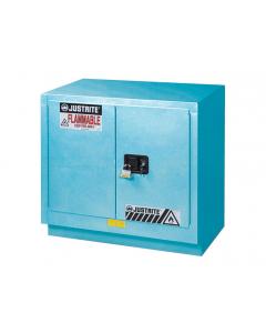 ChemCor® Under Fume Hood Corrosives/Acids Safety Cabinet, 23 gallon, 2 Manual-Close Doors, Blue - #8837022