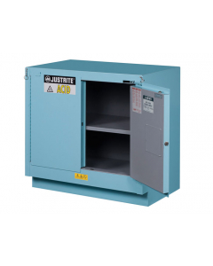 ChemCor® Under Fume Hood Corrosives/Acids Safety Cabinet, 23 gallon, 2 Self-Close Doors, Blue - #8837222