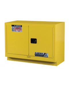 31 Gal Yellow Under Fume Hood Solvent/Flammable Liquid Safety Cabinet, 2 Manual Close Doors - Sure-Grip® EX - #884800