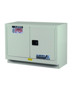 31 Gal Silver Under Fume Hood Solvent/Flammable Liquid Safety Cabinet, 2 Manual Close Doors - Sure-Grip® EX - #884804