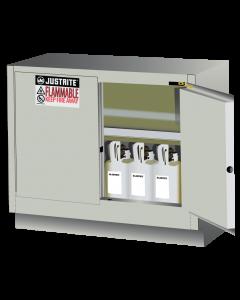 31 Gal Light Neutral Under Fume Hood Solvent/Flammable Liquid Safety Cabinet, 2 Self-Close Doors - Sure-Grip® EX - #884827