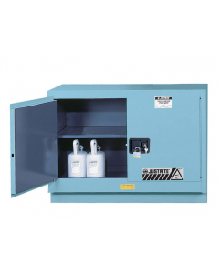 ChemCor® Under Fume Hood Corrosives/Acids Safety Cabinet, 31 gallon, 2 Manual-Close Doors, Blue - #8849022